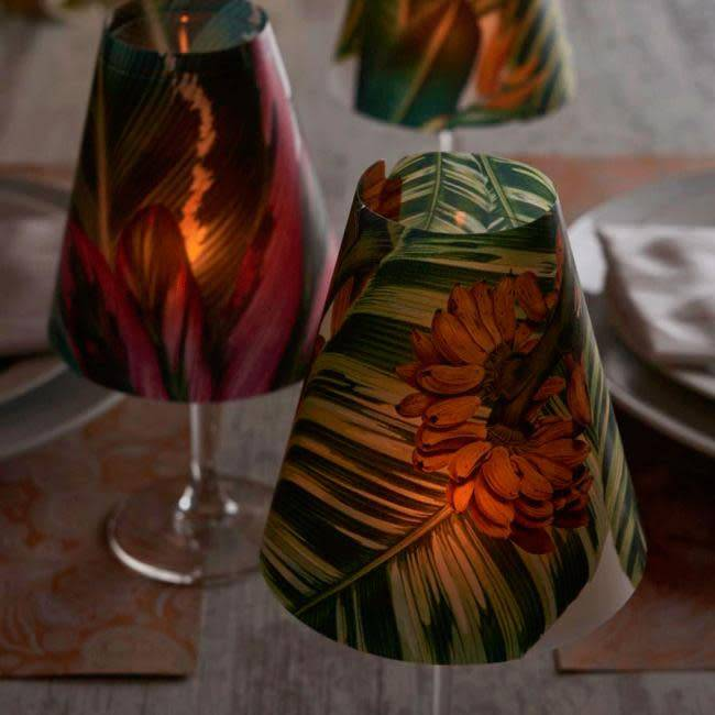 Indigo De Papel Tropical Lampshade (3 Per Pack)