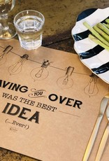 Indigo De Papel Light Bulbs Paper Placemats (24 Per Pack)