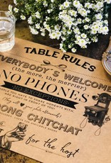 Indigo De Papel Table Rules Paper Placemats (24 Per Pack)