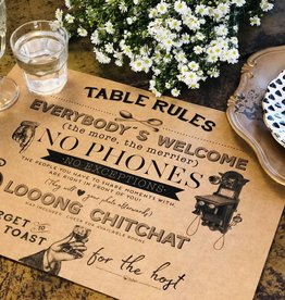 Indigo De Papel Table Rules Paper Placemats (24 Per Pack)