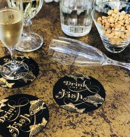 Indigo De Papel Drink Like A Fish - Board Coasters (Pack of 10)