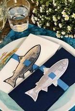 Indigo De Papel Fish Napkin & Tags (12 Per Pack)
