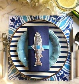 Indigo De Papel Blue Watercolour Paper Placemats (12 Per Pack)