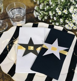 Indigo De Papel Star Napkin & Tags (12 Per Pack)