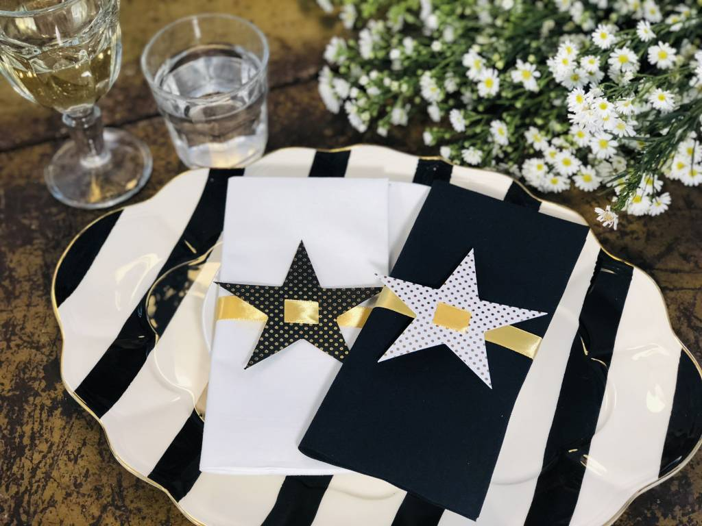 Indigo De Papel Star Napkin & Tags (12 Per Pack)