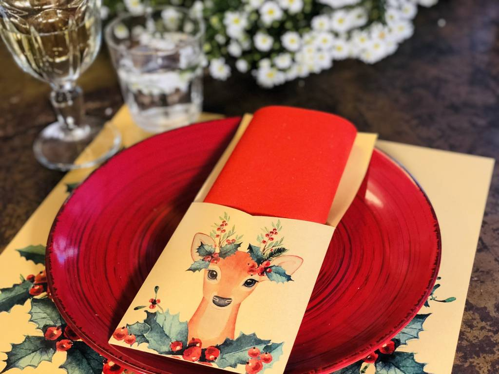 Indigo De Papel Reindeer Silverware Holders (12 Per Pack)