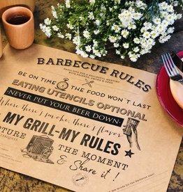 Indigo De Papel BBQ Rules Paper Placemats (24 Per Pack)