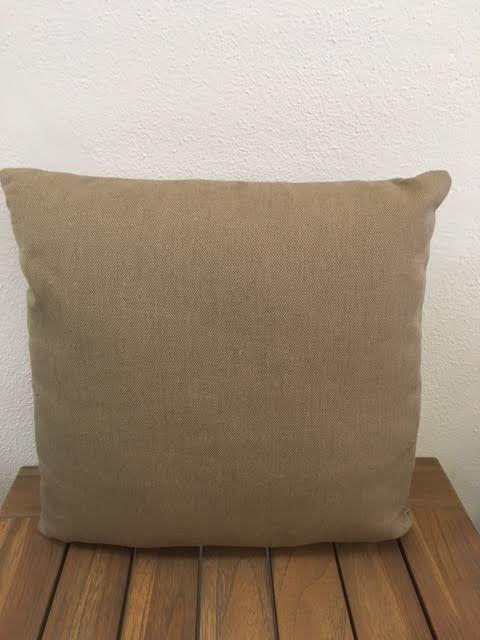 "Gotcha Covered Dark Burlap Sunbrella 16"" Pillow"