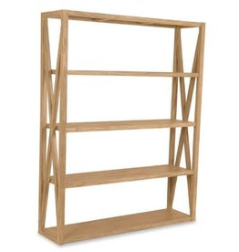 "Sunset West USA RUSTIC NATURAL TEAK ""X"" BOOKCASE"