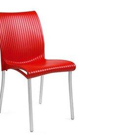 Nardi Regina Chair - Rosso/Argento Leg