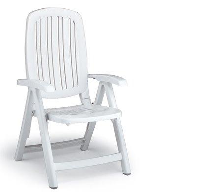 Nardi Salina 5 Position Folding Chair - Bianco