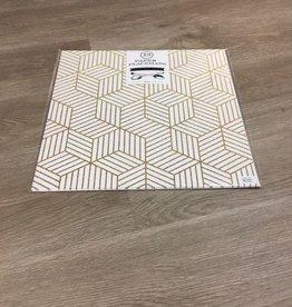 Indigo De Papel Geometric Paper Placemats (12 Per Pack)