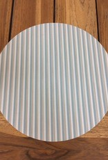 "Gotcha Covered 14"" Round Phifertex Placemat - Sea Foam Stripe Multi"