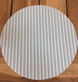 """Gotcha Covered 14"""" Round Phifertex Placemat - Sea Foam Stripe Multi"""
