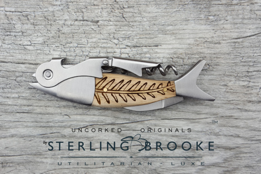 Sterling Brooke CO. Double Hinged Corkscrews