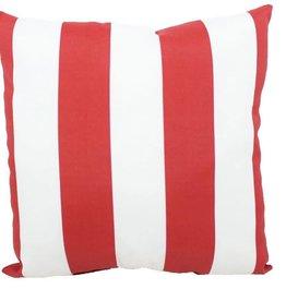 """Lava Pillows Red Cabana OD 18"""" Pillow"""