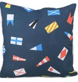 "Lava Pillows Nautical Flags OD 18"" Pillow"