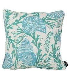 """Lava Pillows Green Shells 17"""" Pillow"""