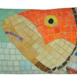 "Lava Pillows Orange Fish Mosaic 15""x23"" Pillow"