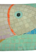 "Lava Pillows Fish Mosaic 15""x23"" Pillow"