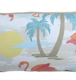 "Lava Pillows Flamingo Island 12""x24"" Pillow"