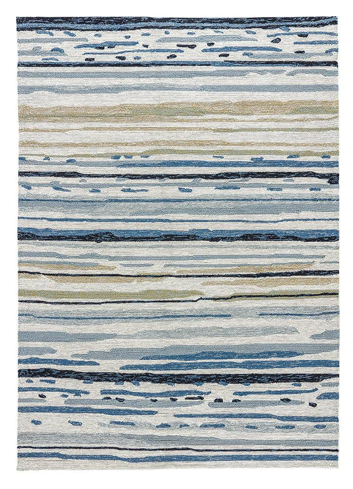 RUG CO08 2X3 Silver Green Ensign Blue COLOURS SKETCHY LINES