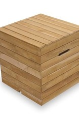 Sunset West USA RUSTIC NATURAL TEAK SLATTED FIRE TABLE TANK COVER