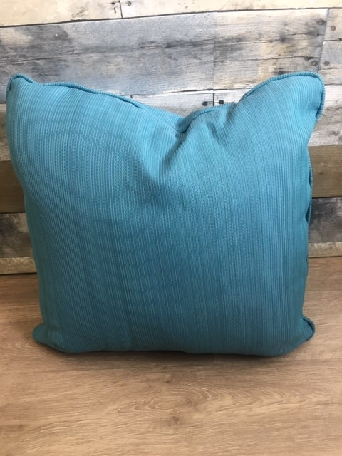 """Sunset West USA Lines of Blue 18"""" Pillow"""