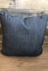 "Sunset West USA Textured Blue & White 20"" Pillow"