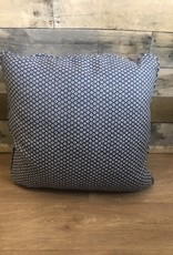 "Sunset West USA Blue Diamonds & Dots  18"" Pillow"