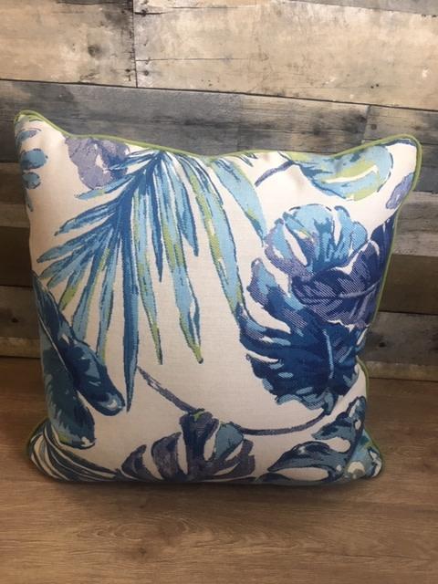 """Sunset West USA Tropical Blue 20"""" Pillow"""