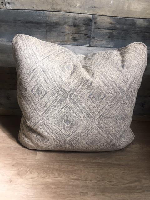 "Sunset West USA Gray/Blue Pattern 18"" Pillow"