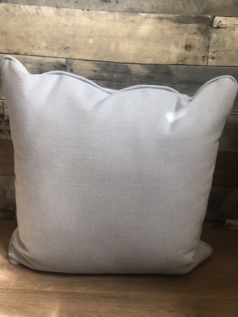 "Sunset West USA Blue & Cream Dots 20"" Pillow"