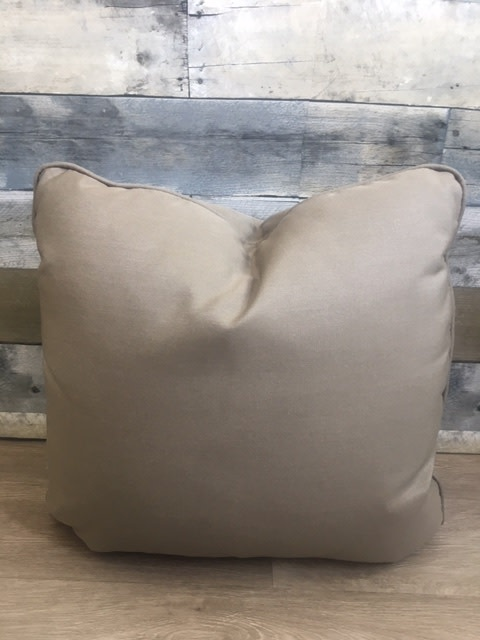 """Sunset West USA Canvas Taupe 18"""" Pillow"""