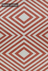 "Couristan Outdurables County Fair - Coral & Dune 5'10""X9'2"" (Reversible)"