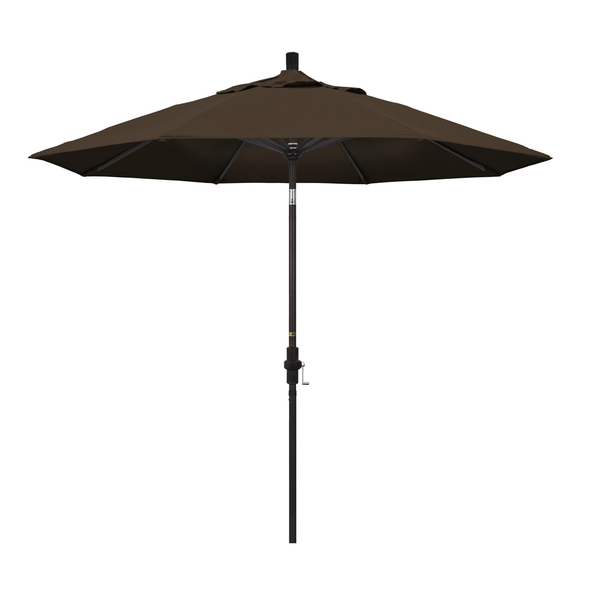 California Umbrella 9' Collar Tilt - Pacifica Bay Brown