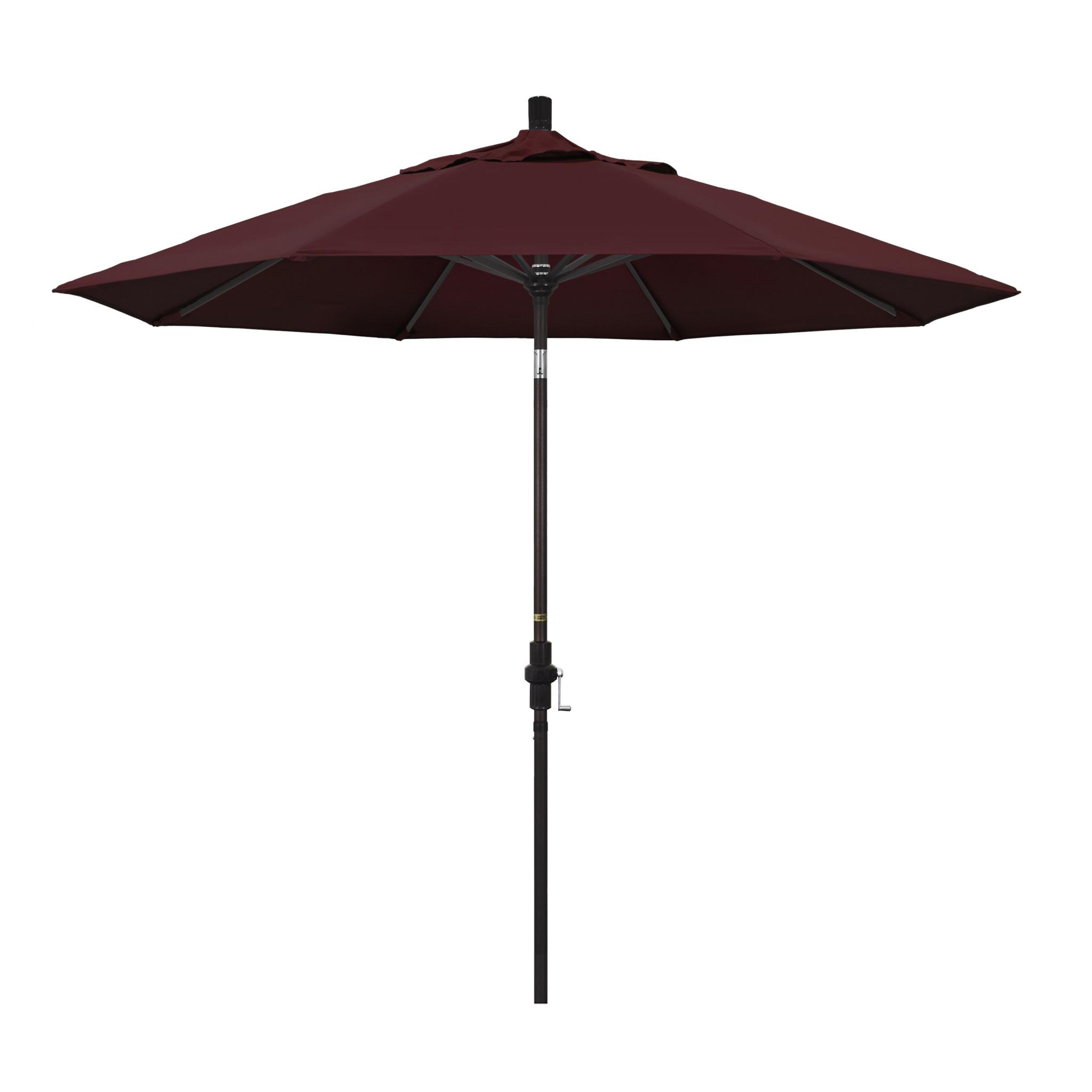 California Umbrella 9' Collar Tilt - Pacifica Burgundy