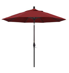 California Umbrella 9' Collar Tilt - Pacifica Jockey Red