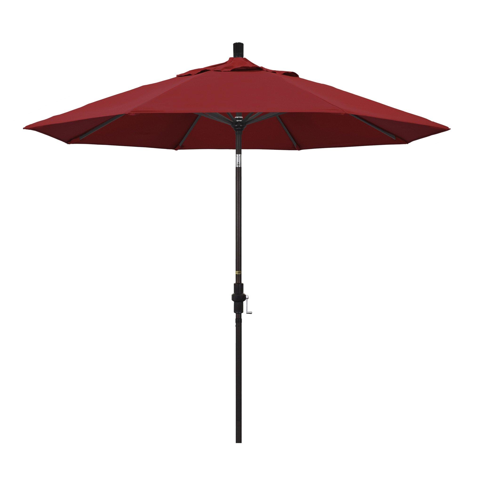 California Umbrella 9' Collar Tilt - Pacifica Jockey Red