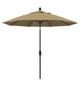 California Umbrella 9' Collar Tilt - Pacifica Linen Straw