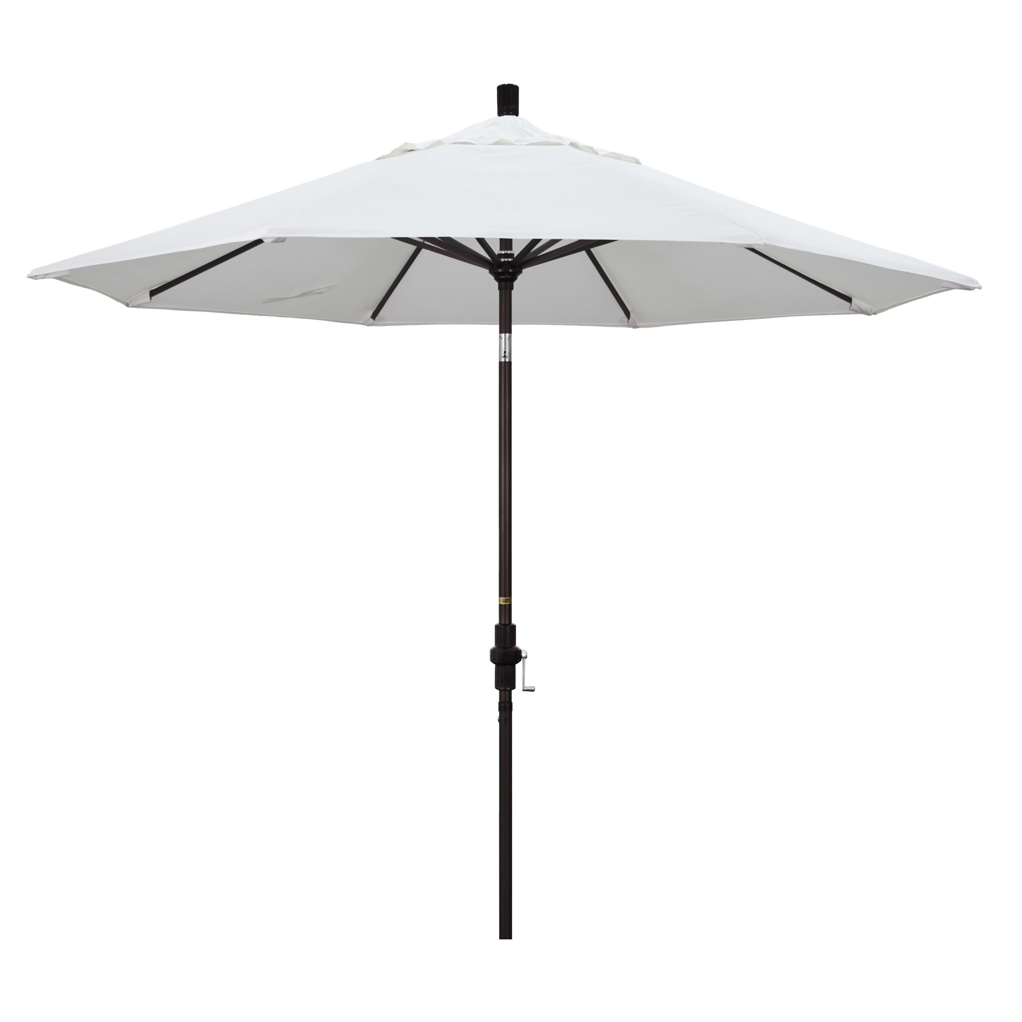 California Umbrella 9' Collar Tilt - Olefin White