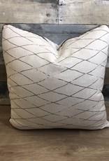 "Sunset West USA White & Gray Diamonds 20"" Pillow"