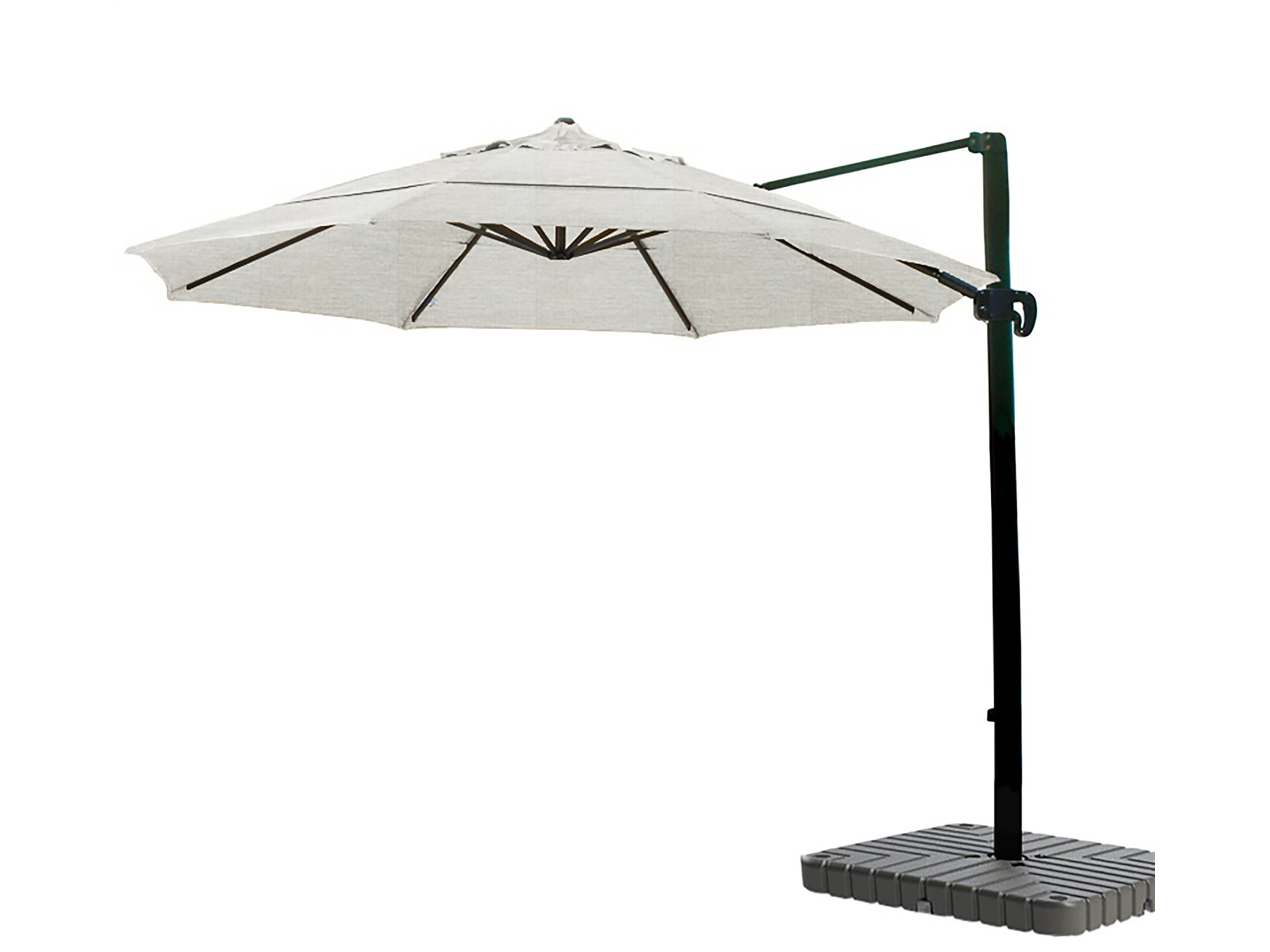 California Umbrella 11' Cantilever Crank Lift Bronze Patio Umbrella Granite