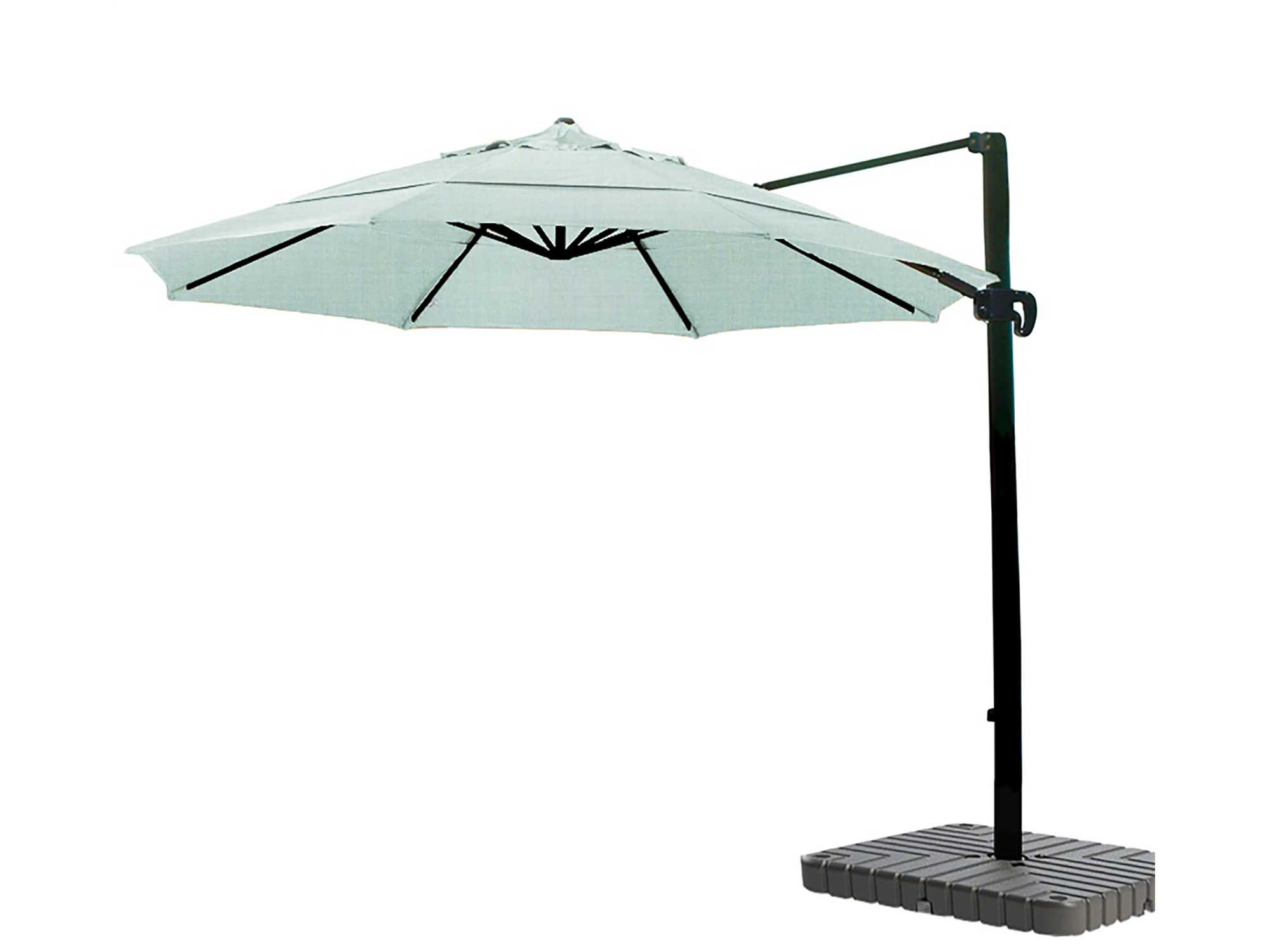 California Umbrella 11' Cantilever Crank Lift Bronze Patio Umbrella Spa