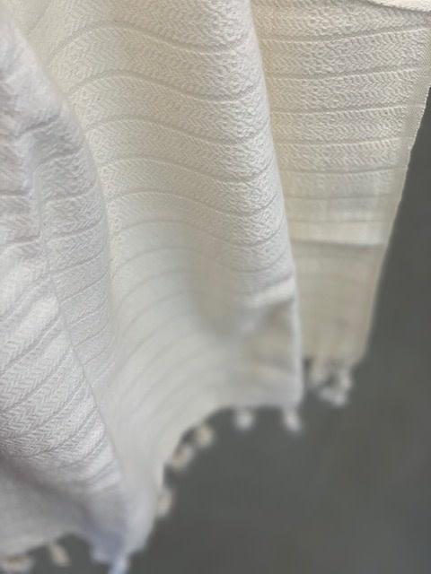Pokoloko Kreative Ltd. Turkish Towel - Cream Textured