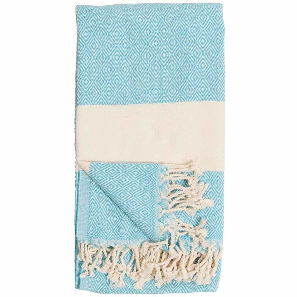 Pokoloko Kreative Ltd. Turkish Towel - Diamond - Aqua