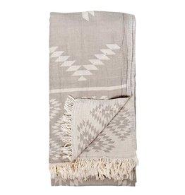 Pokoloko Kreative Ltd. Turkish Towel - Geometric - Pebble Grey