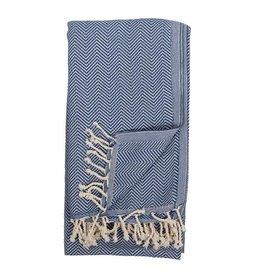 Pokoloko Kreative Ltd. Turkish Towel - Herringbone - Azul
