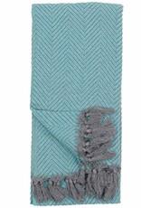 Pokoloko Kreative Ltd. Turkish Towel - Large Fishbone - Teal