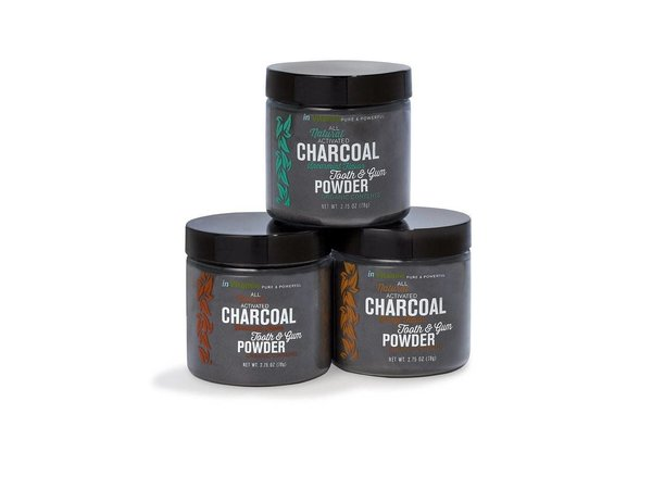 Invitamin charcoal teeth whitening poeder peppermint